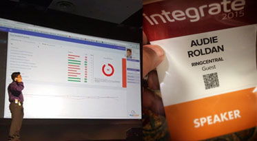 My impromptu appearance @INTEGRATE 2015