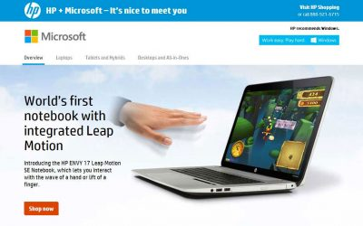Joint HP and Microsoft campaign site I helped build hailed a success