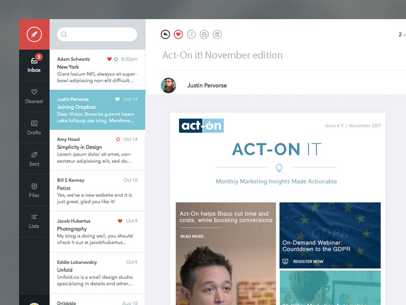 Act-On Email cover
